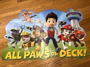 Nickelodeon Paw Patrol 46 Piece Educational Giant 3ft Floor Kids Puzzle FREEship
