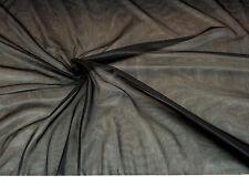 Discount Fabric 108 inch Black PowerNet Stretch Mesh Spandex sheer PO301
