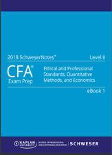 2018 CFA Level 2 Kaplan Schweser Notes:Books 1-5 + QuickSheet