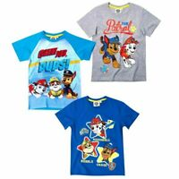 Paw Patrol Boys Kids Children Short Sleeve Tee T Shirt T-shirt Top age 2-8 yrs