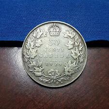 1929 Canada Silver 50 Cents. Fine+. - 110