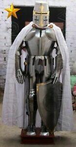 Medieval Knight Suit Of Full Body Armour Steel Templar Combat Armor X-MAS LARP
