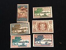 1930-1946 Wallis and Futuna Islands Postage Stamps, Unused, Lot of Six