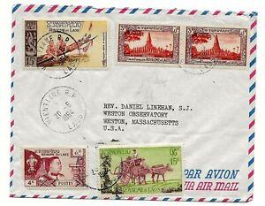 Laos 1964 Cover to USA Jesuit Priest