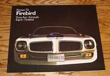 1972 Pontiac Firebird Trans Am Formula Esprit Sales Brochure 72