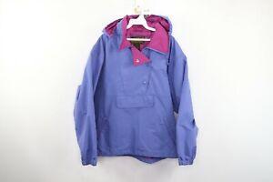 Vintage 80s Eddie Bauer Womens Large Goretex Waterproof Anorak Jacket Rain Coat