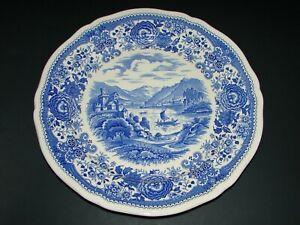 """Villeroy & Boch Burgenland Blue White Transferware Porcelain DInner Plate 10.5"""""""