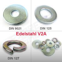 Unterlegscheiben Federringe Edelstahl V2A - DIN 125 127 9021