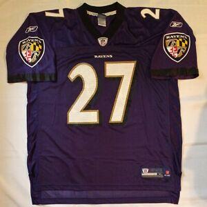 Purple REEBOK Baltimore Ravens NFL ONFIELD Jersey 27 Ray Rice Mens Sz. XL XLarge