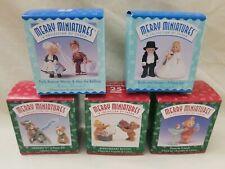 Lot of 5 HALLMARK MERRY MINIATURES  MIB Collection Christmas Vintage 1998 1999