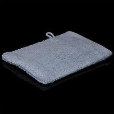 10 billige Waschlappen Handschuh 380 g/qm Waschhandschuh Blau reine Baumwolle