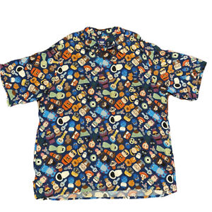 Reyn Spooner Disney Pixar Fest Hawaiian Shirt Size 3XL - Pass Holder Exclusive