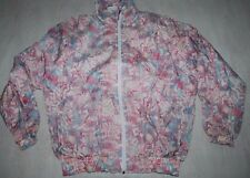 VINTAGE RUCANOR TRACKSUIT TOP JACKET NYLON IBIZA FESTIVAL MULTICOLOR WHITE L XL