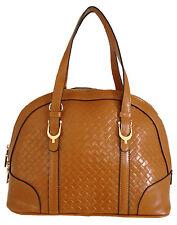 Aubree Bouillon -- Women's Brown Leather Handbag
