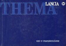 1989 LANCIA THEMA USO E MANUTENZIONE BETRIEBSANLEITUNG HANDBOOK ITALIENISCH!