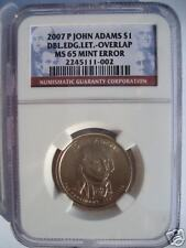 2007 P ADAMS DOUBLE EDGE LETTERED DOLLAR - NGC MS65