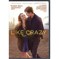 LIKE CRAZY DVD w/ Digital Copy UltraViolet NEW