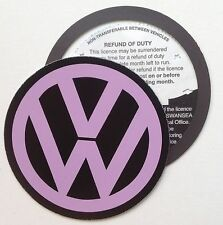 Magnetic Tax disc holder fits any volkswagen vw golf polo passat touran purple l