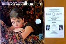 ANNA MARIA ALBERGHETTI - LOVE MAKES THE WORLD GO ROUND - MGM LP + PROGRAM