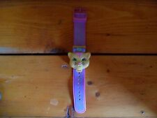 VINTAGE Polly Pocket Bluebird  LOVES KITTY Cat Face WATCH Band Bracelet 1995