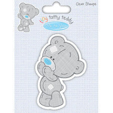 ME TO TOU TINY TATTY TEDDY BOY CLEAR STAMPS -STANDING FOR CARDS AND CRAFTS