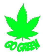 Go green weed car bumper sticker