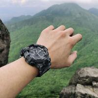 Outdoor Sport Military Army Camo Waterproof Time Date Digital Quartz Wrist Watch