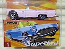 Matchbox 2005 Superfast #1 Pink Ford THUNDERBIRD Car New Mint Boxed