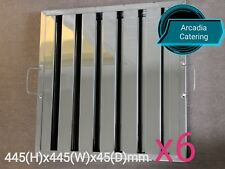 6xLOBO Heavy Duty Stainless Steel Canopy Extraction Grease Baffle Filter 445x445