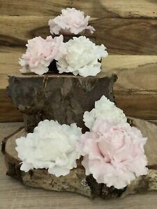 6 Cupcake Peony/Rose  Cake Topper/Decoration Cupcake