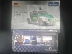 NEU**Polizeikäfer***OVP**VW 1200**Police Cars**mit Datenblatt****Editions Atlas