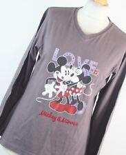 Disney Grey Graphic Cotton Womens Graphic Tee Size M