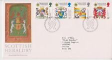 GB ROYAL MAIL FDC 1987 SCOTTISH HERALDRY STAMP SET BUREAU PMK