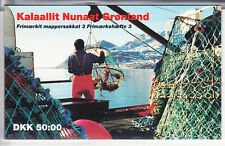 Greenland Scott 217b, 257b complete used panes in Booklet number 3