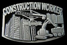 CONSTRUCTION WORKER CRANE OCCUPATION METAL STEEL BELT BUCKLE BOUCLE DE CEINTURES