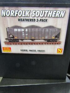 MICRO TRAINS N SCALE 993 05 930 NORFOLK SOUTHERN WEATHERED HOPPER 3 PACK