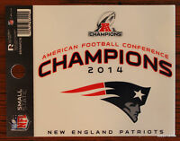 New England Patriots Window Cling Static Sticker 2014 AFC Champions NFL