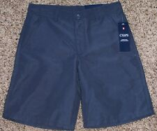 NEW boys CHAPS performance SHORTS school approved POLYESTER navy SIZE 12