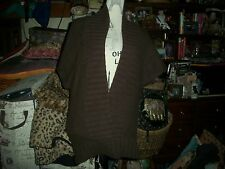 TWELFTH STREET BY CYNTHIA VINCENT Lovely Chocolate Cashmere Cardigan Size L