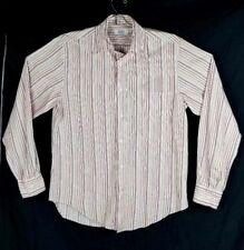 1881 Cerruti Blue Men Size 39 Strip Multi Color Button Down Shirt
