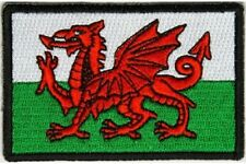"(A5) WALES FLAG 3"" x 2"" iron on patch (5169) Biker UK"