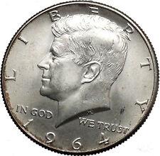 1964  President John F. Kennedy Silver Half Dollar United States USA Coin i44620