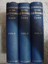 Introduction to the New Testament Theodor Zahn In 3 Volumes 1909 Set Rare