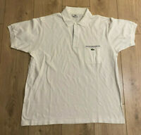 Lacoste Men's Polo T Shirt White Size 6 Large Short Sleeve 100% Cotton