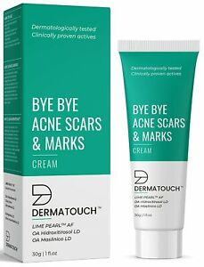 DERMATOUCH Bye Acne Scars & Marks Cream,Gives Even Skin Tone - (30 gm) + F.S