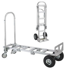 Wesco Spartan Sr Aluminum Convertible Hand Truck with Solid Rubber Wheels