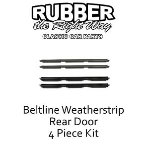 1997 - 2001 Jeep Cherokee Window Beltline Weatherstrip Kit - Rear Doors - 4 Pc.