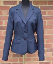 Brand New Jaeger Blue Dotted Fitted Blazer Jacket For Women Size 12,