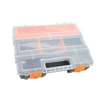 Removable Compartments Bins Portable Tools Storage Box with Lid