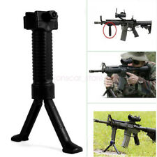 BLACK Grip Pod Military Issue Tactical Fore Grip Bipod Weaver Rail Mount